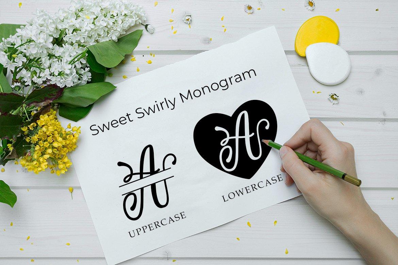 Lovlia | Script and Monogram Font Duo example image 4
