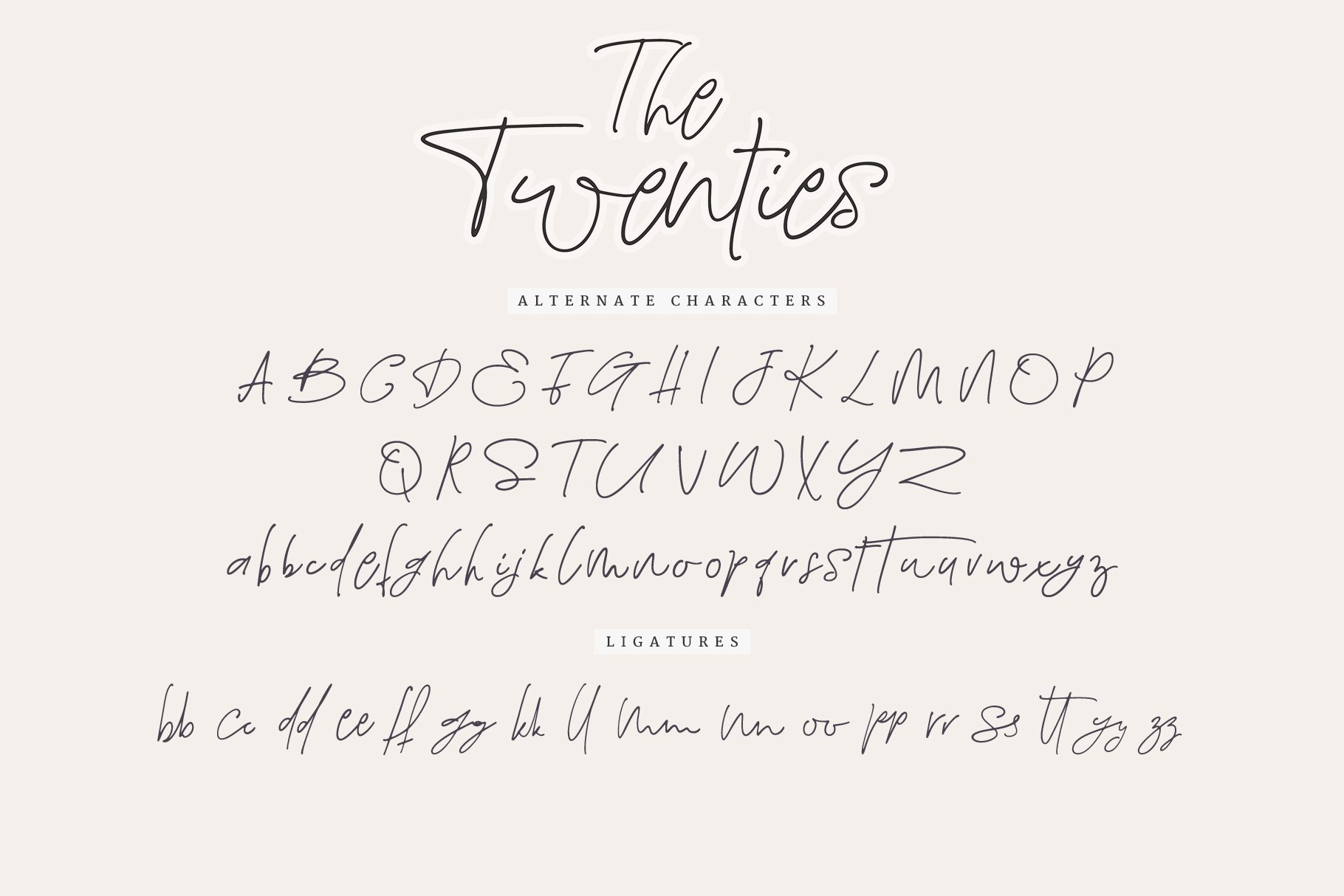 The Twenties   A Sweet Signature Font example image 11