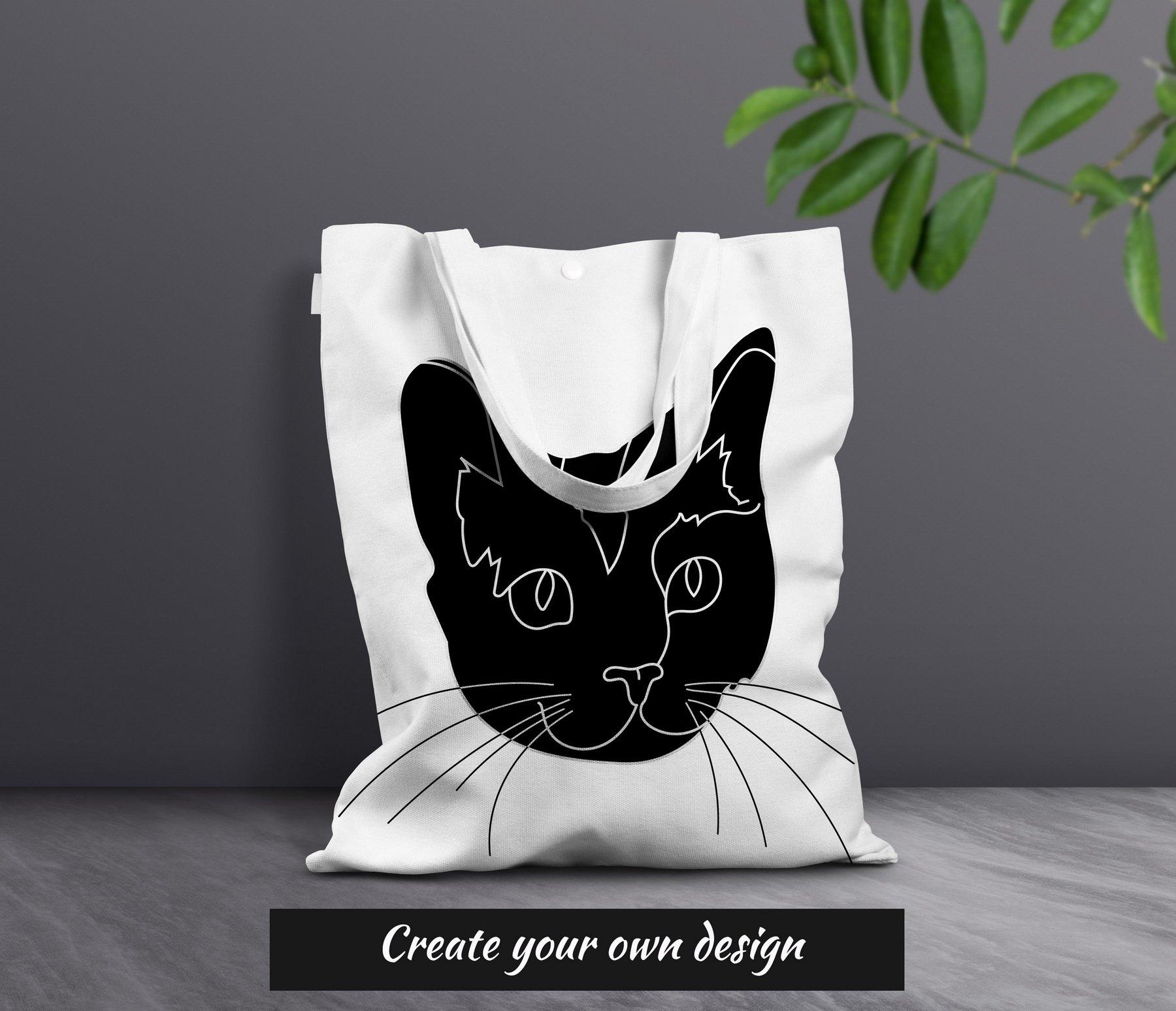 Cat Outline Sublimation Design - Modern Line Art example image 6