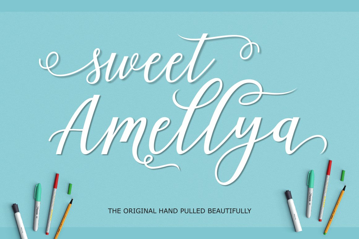 Amellya Script example image 3