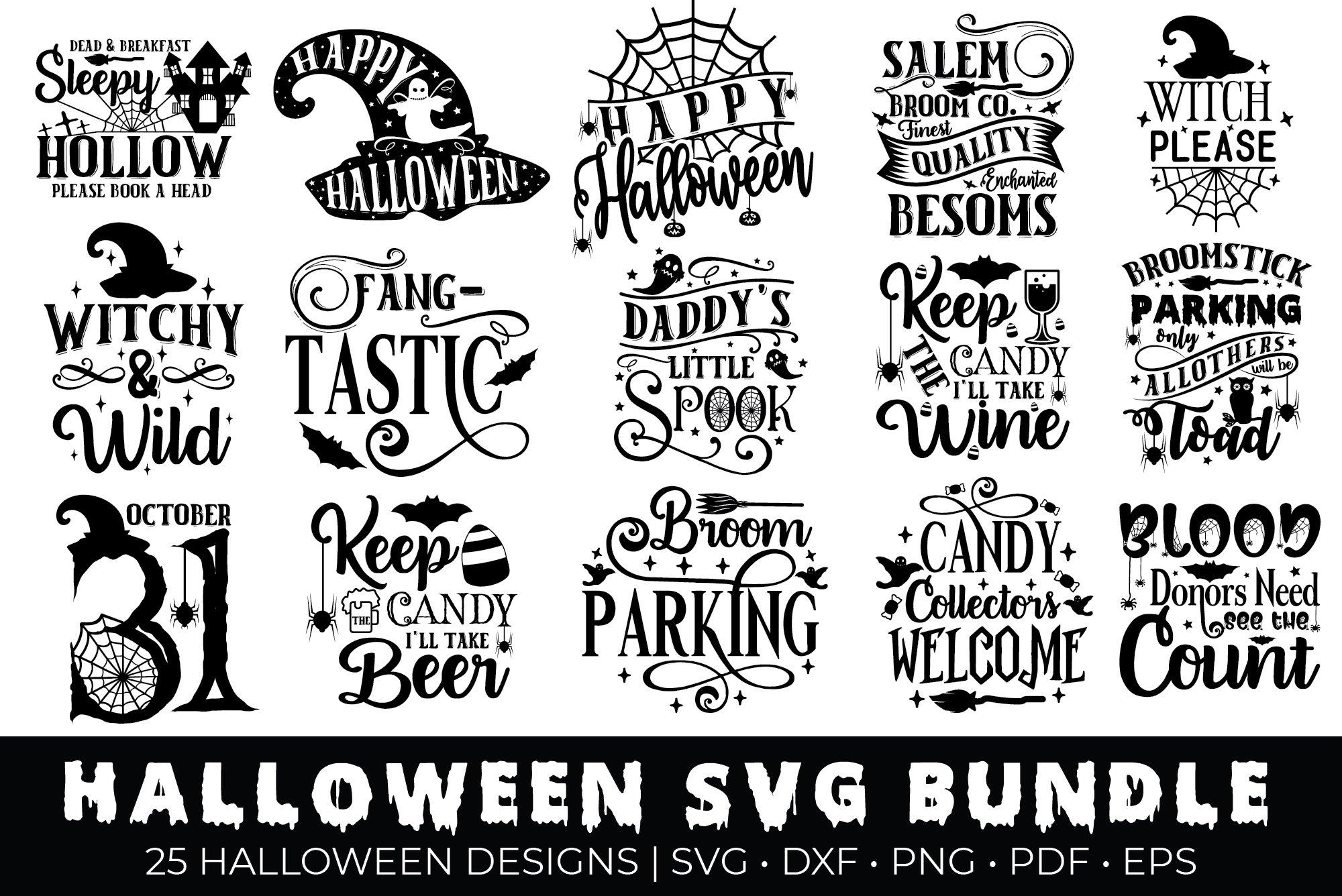 Halloween SVG Bundle, Halloween Quotes Bundle