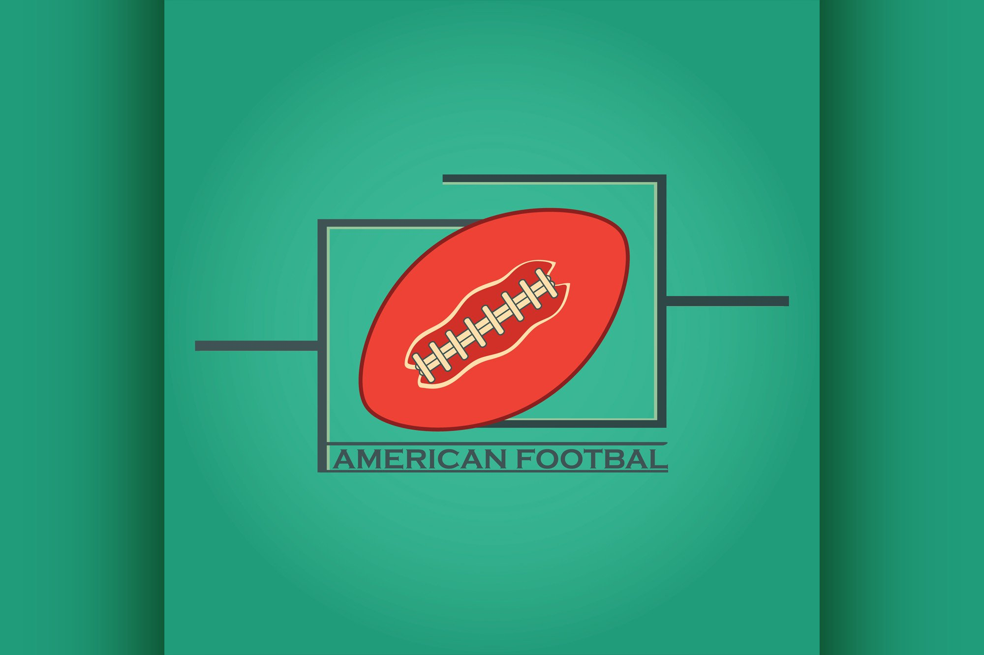 American Football logo and emblem example image 1