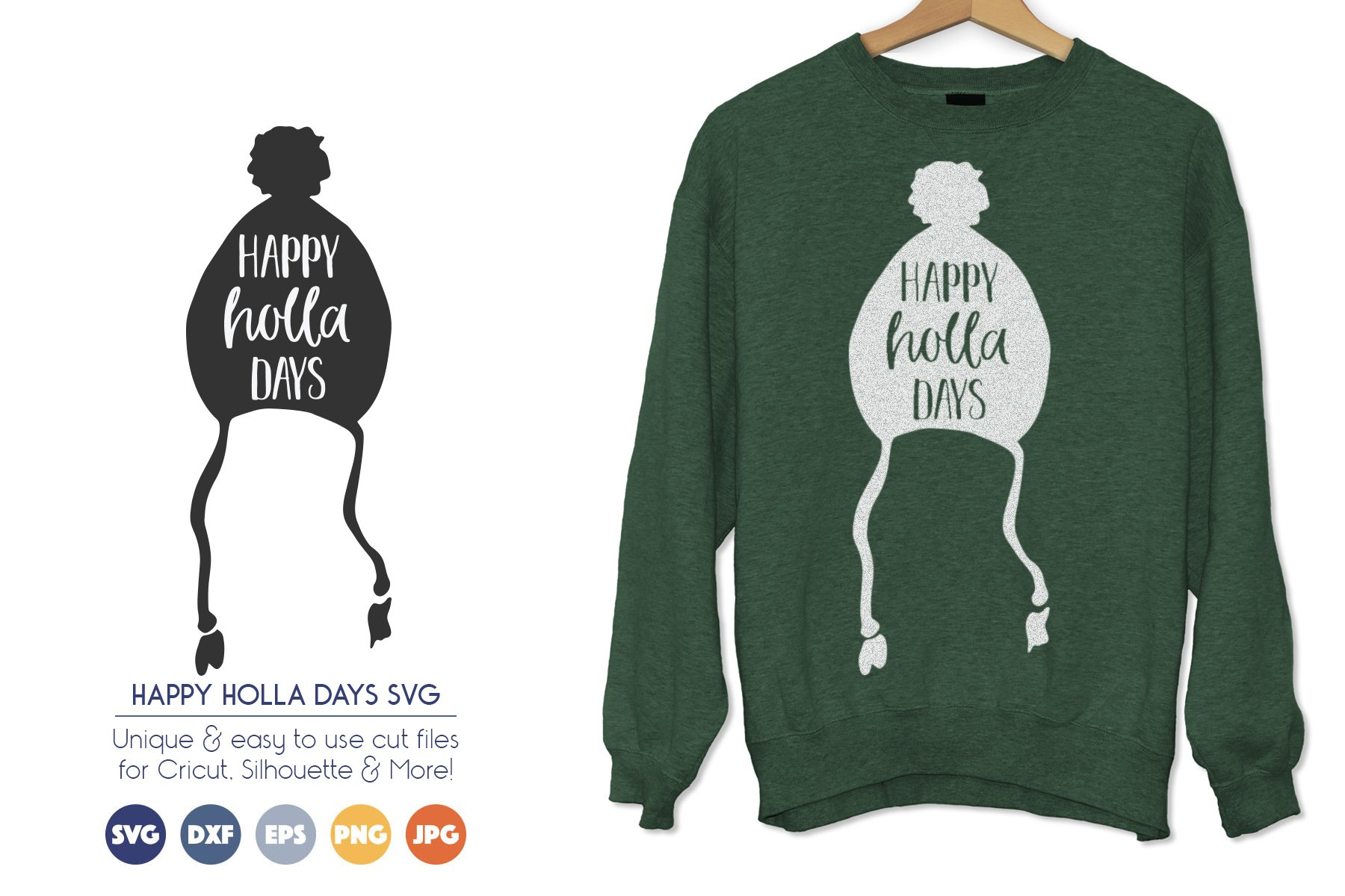 Happy Holla Days - A Cute Hand Drawn SVG Design example image 1