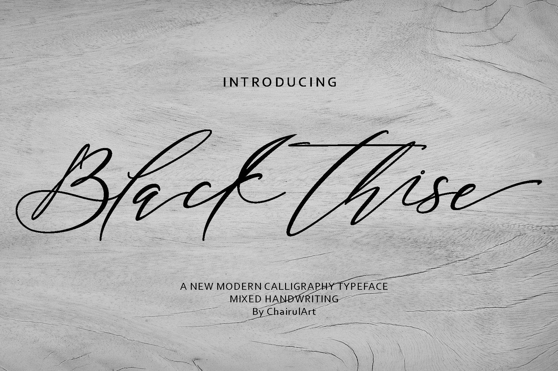 Black Thise Script example image 1