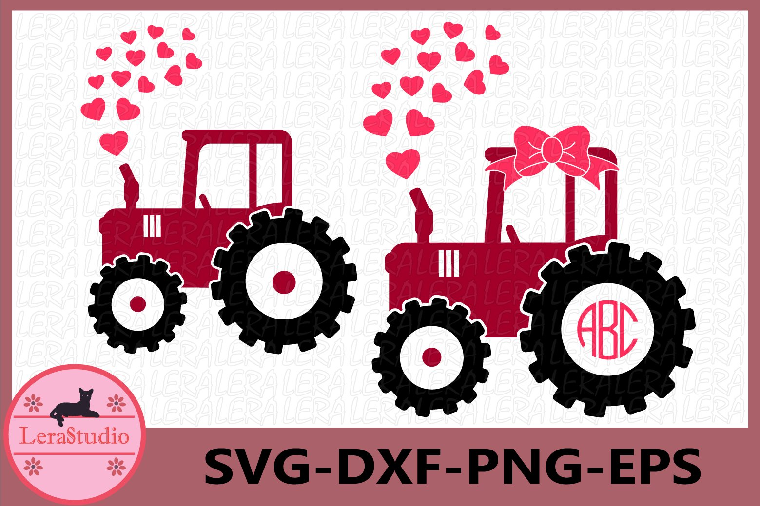 Valentine Tractor SVG Png Dxf File Instant Download Commercial and Personal Use Valentine Svg Tractor Png Tractor Dxf Valentine Png