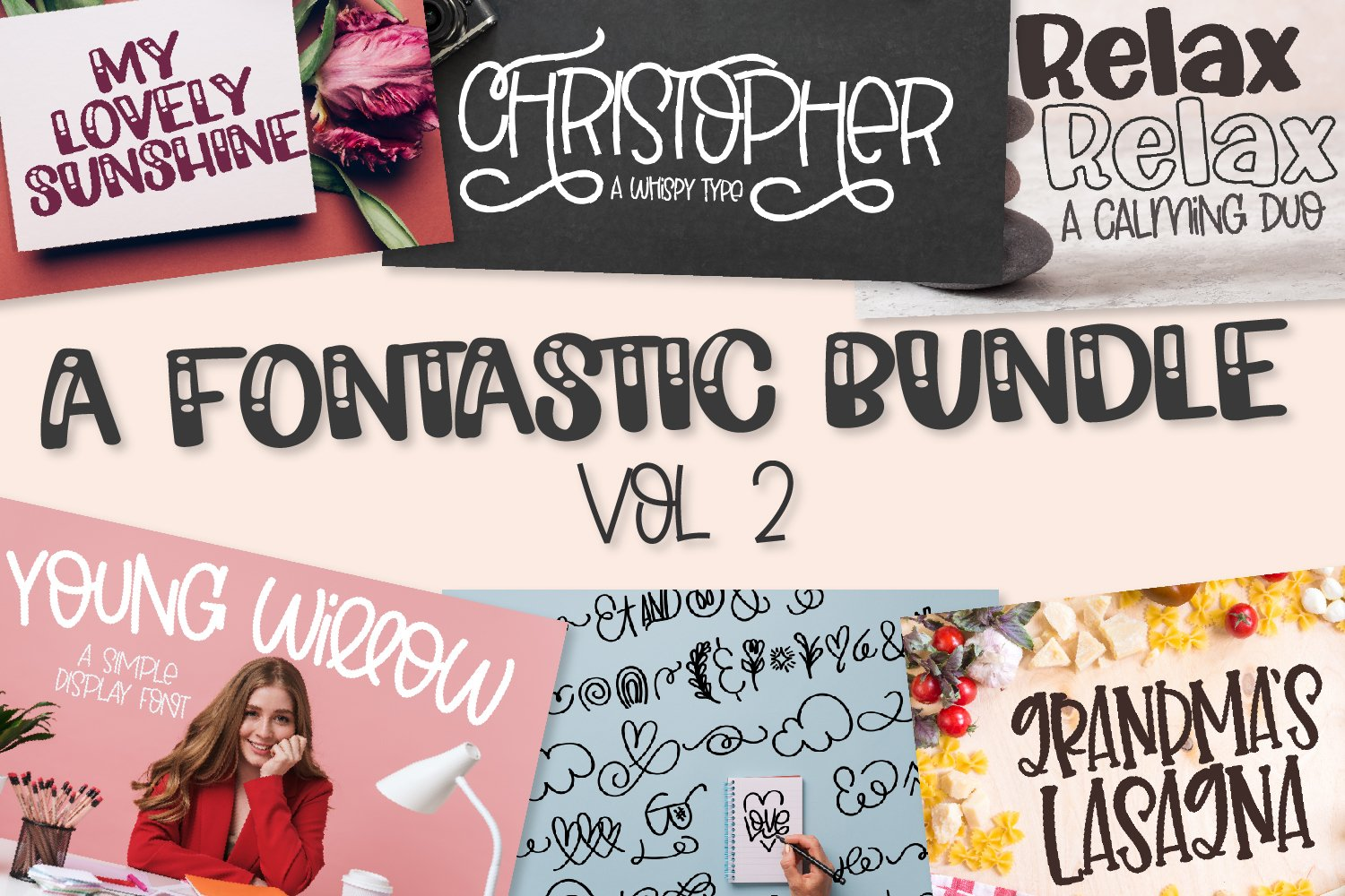 A Fontastic Bundle - Volume 2 - 7 New Fonts! example image 1