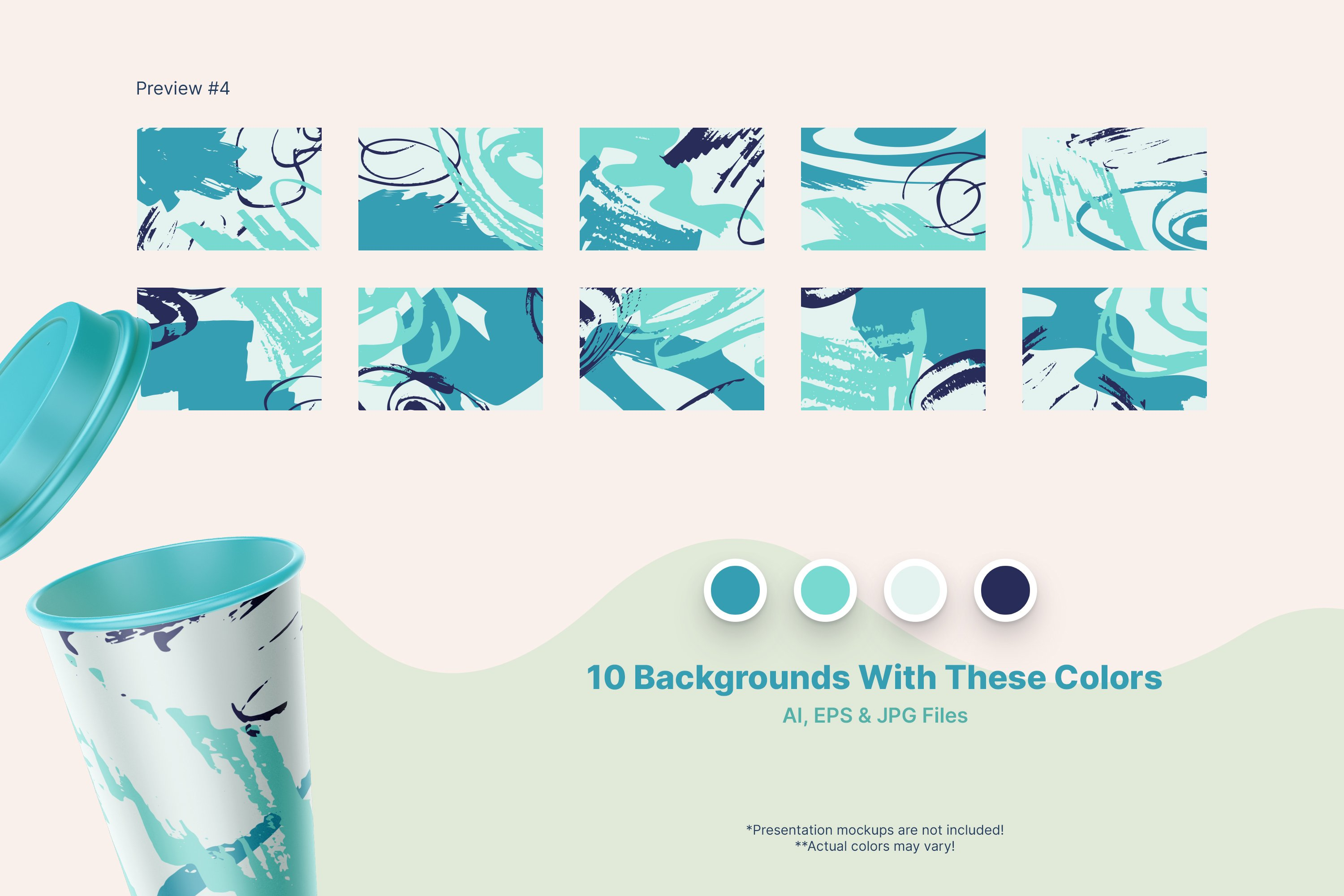 Distressed Vector Backgrounds example image 4