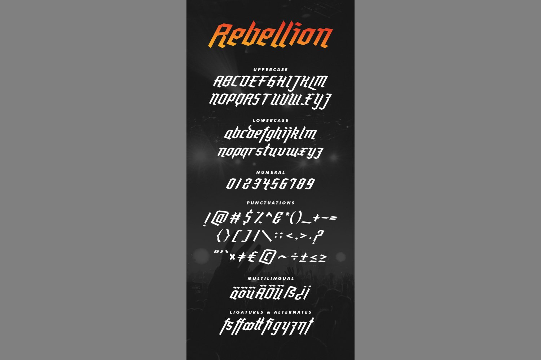 Rebellion - Modern Blackletter example image 6