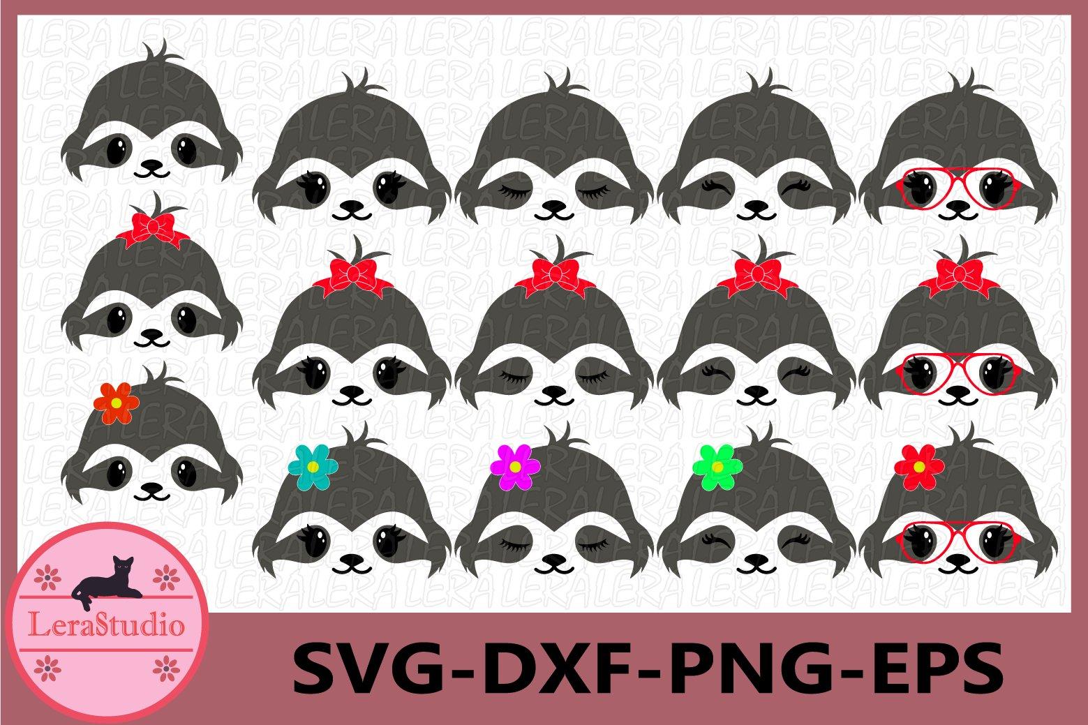 Sloth Face Svg Animal Face Svg Cute Sloth Eyelashes Face 513425 Cut Files Design Bundles