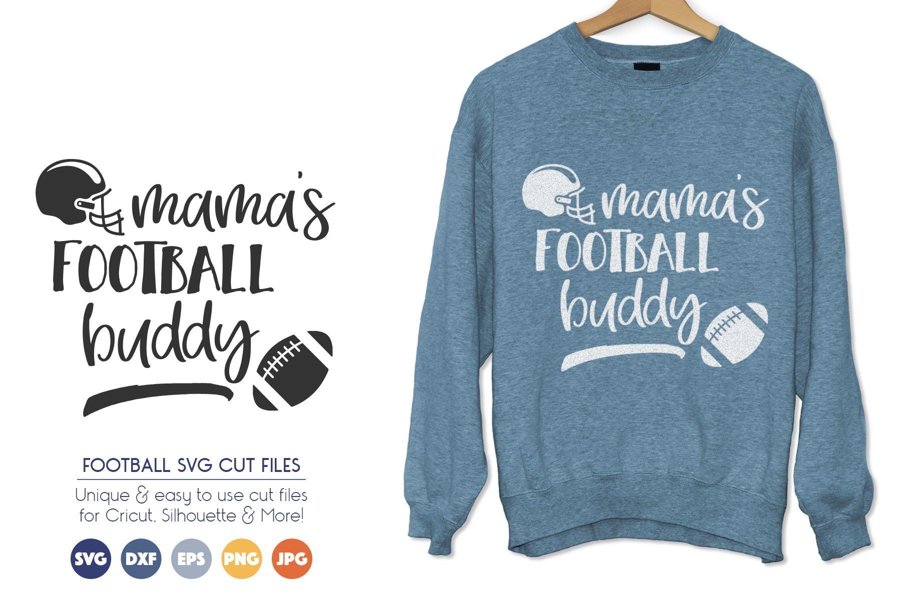 Mamas Football Buddy - Sports Cheer SVG Files example image 1