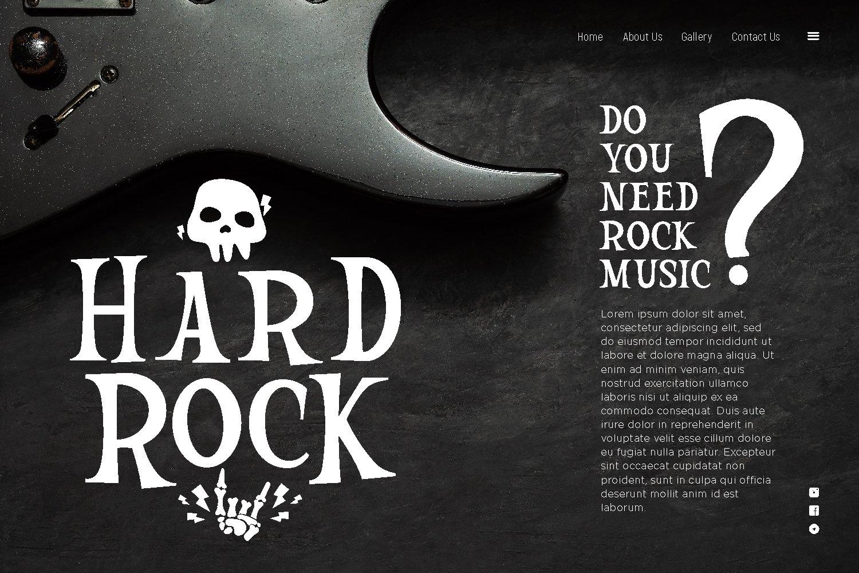 Mountir - Rock Display Font example image 4