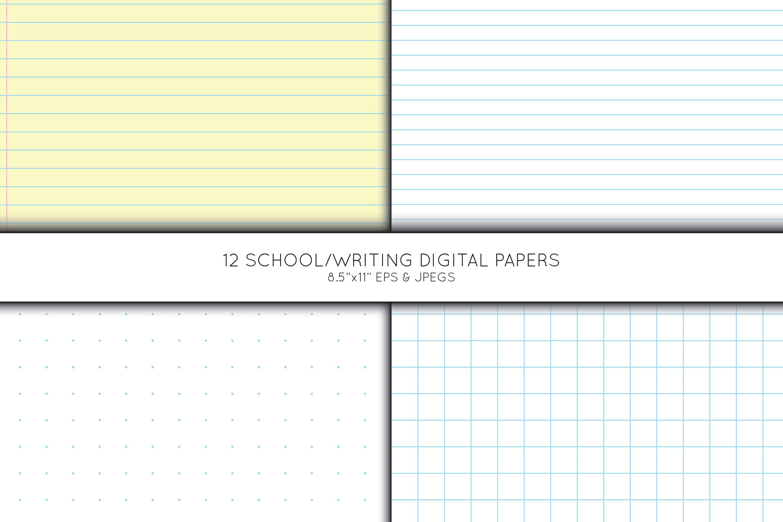 School digital paper, Pre School Paper, Writing paper example image 3