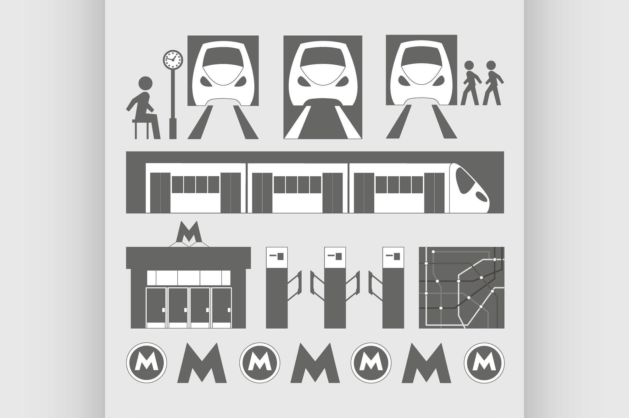 Metro underground symbols example image 1