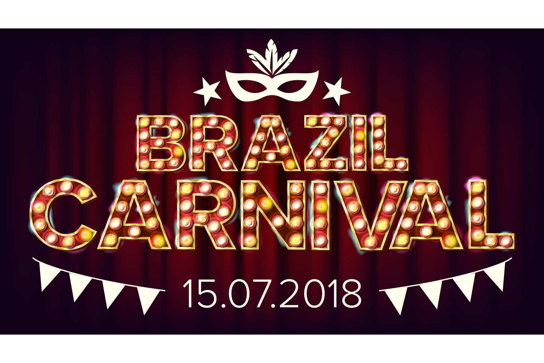 Brazil Carnival Banner Vector. Carnival Lamp Background. For example image 1