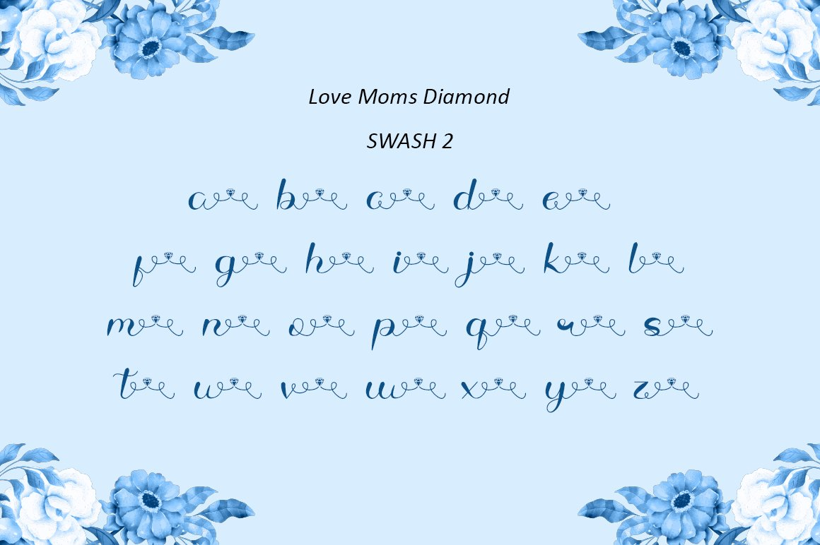Love Moms Diamond - Modern Calligraphy for Mother's Day example image 10
