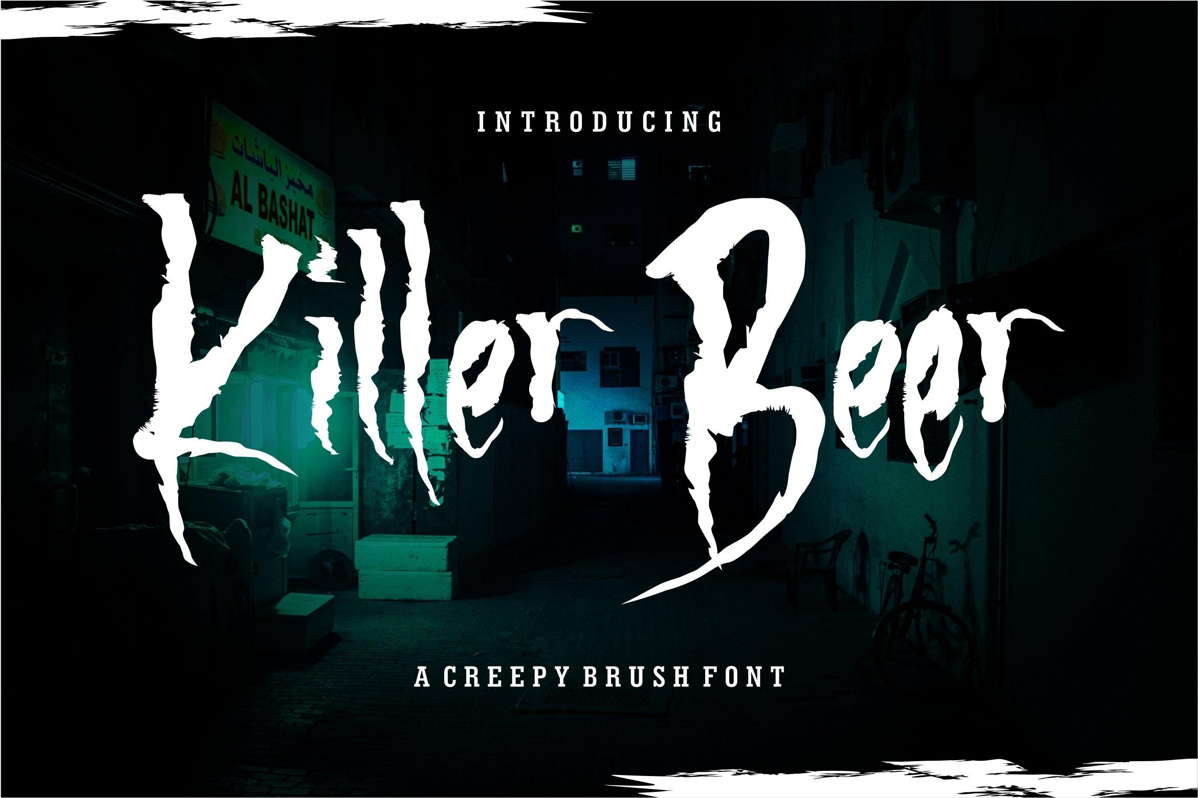 Killer Beer - A Creepy Brush Font example image 1