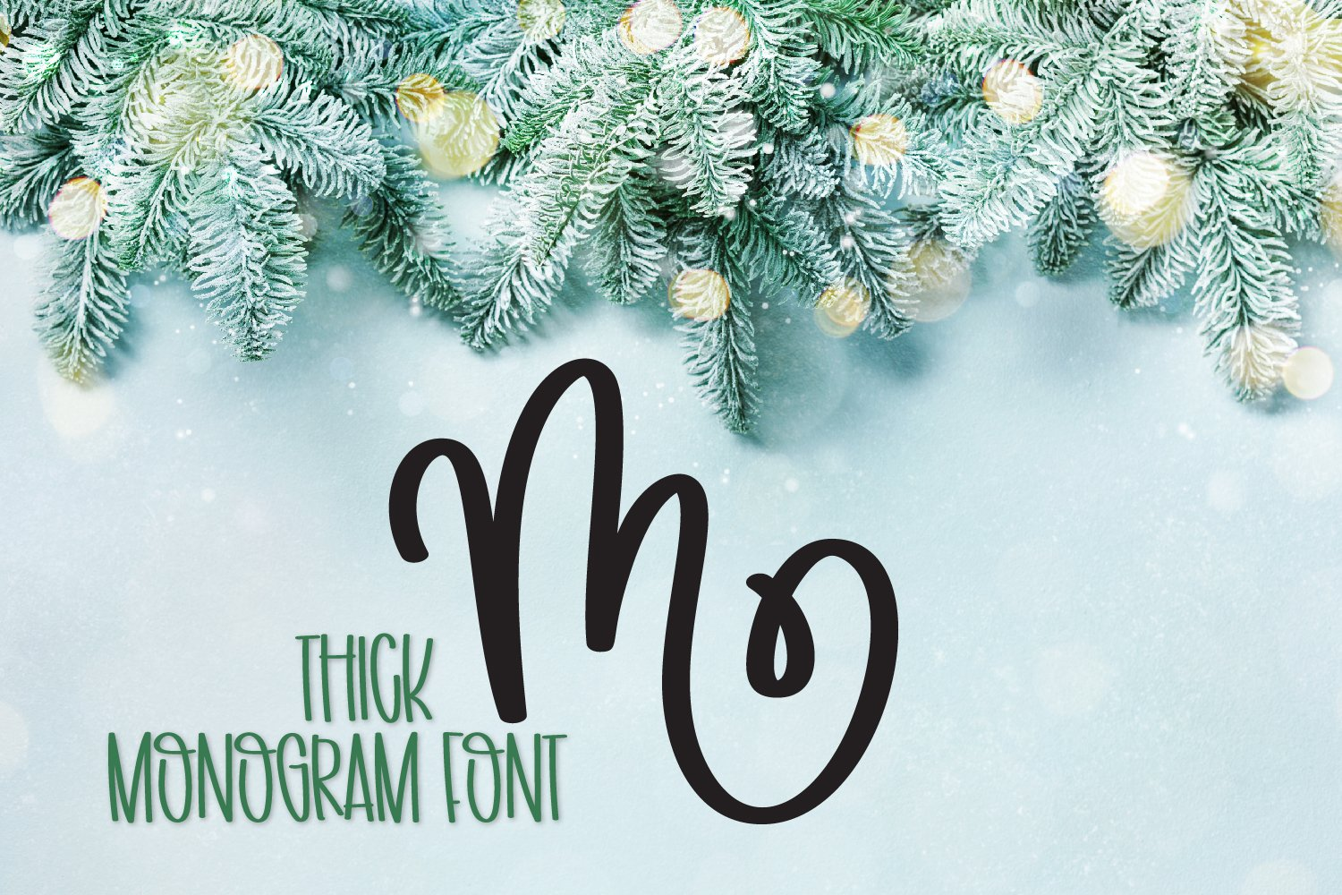 Thick Monogram Font - A-Z Letters example image 5