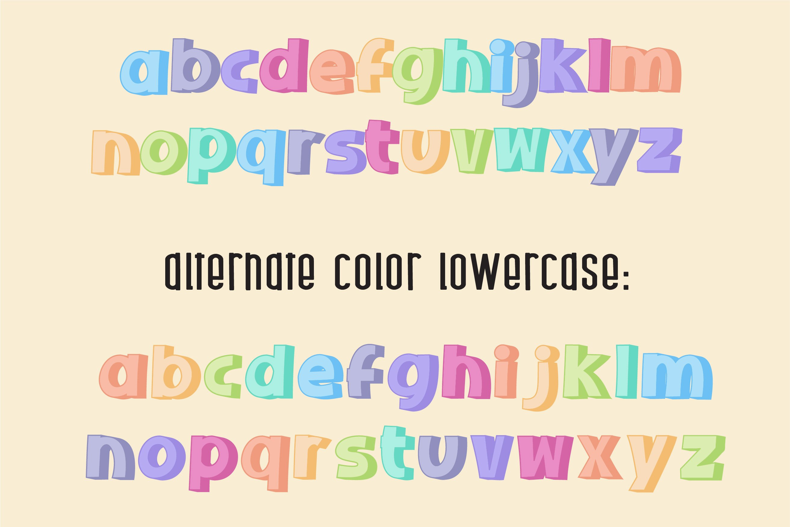 Sherbet Shadow SVG Font Duo example image 11
