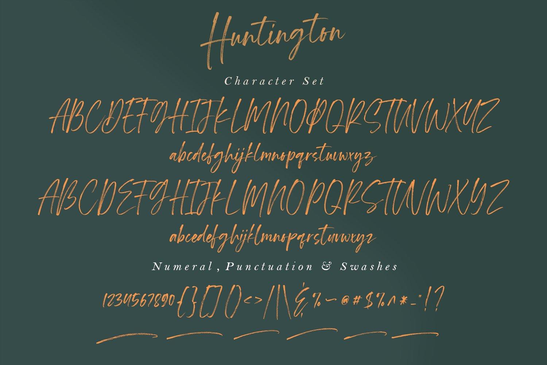 Huntington - Handwritten fonts example image 14