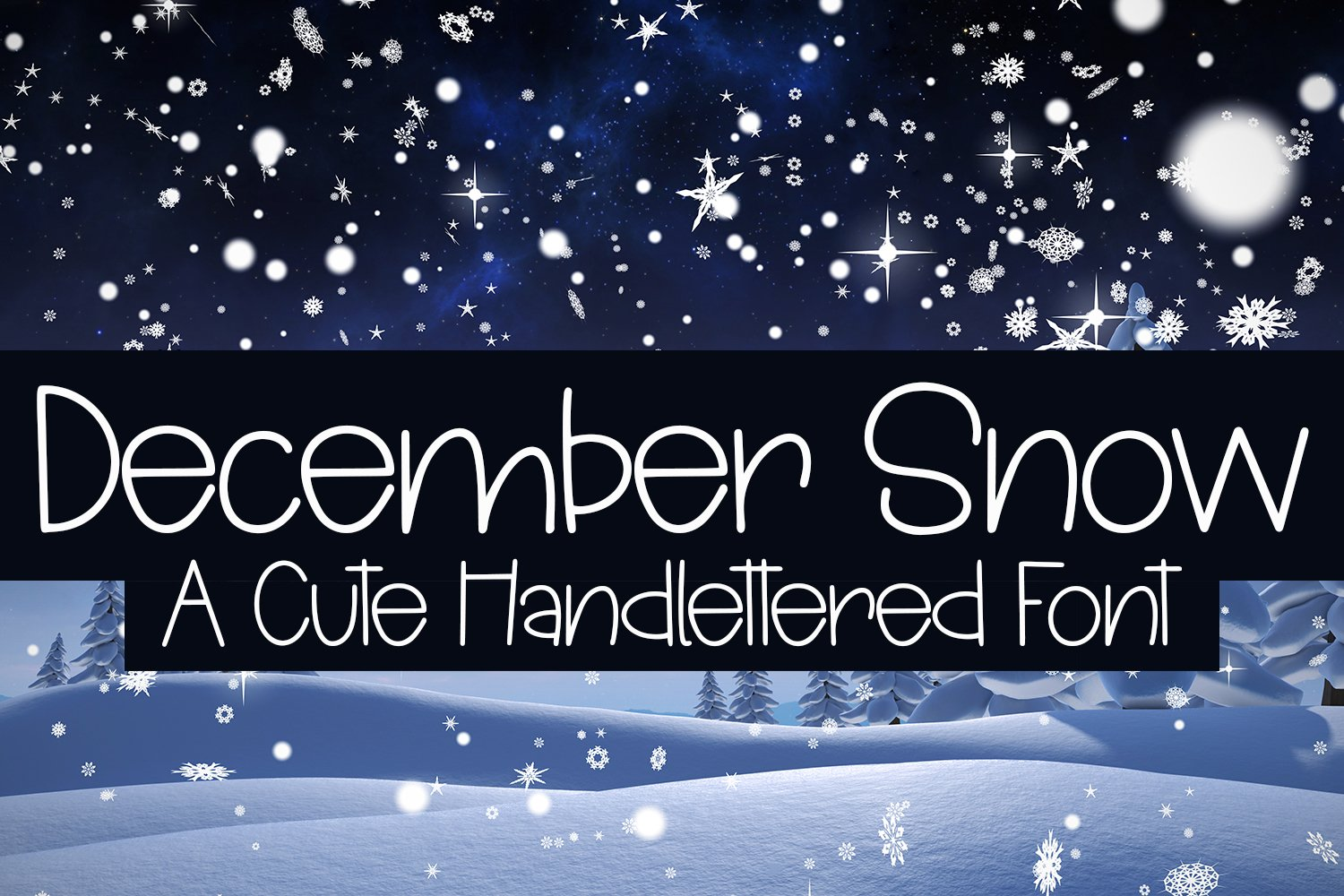 December Snow - A Cute Hand-Lettered Font example image 1