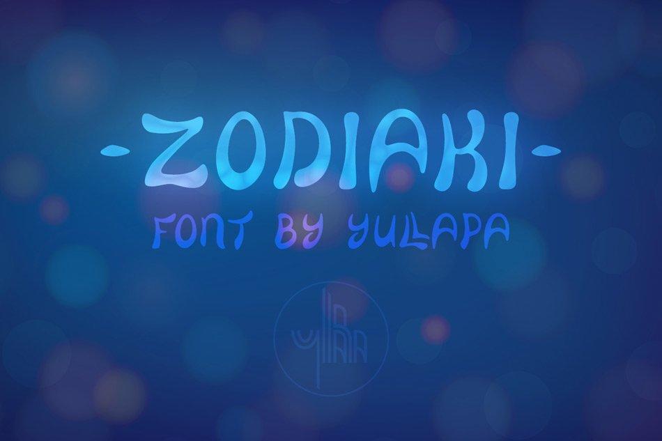 Zodiaki font, based on hand drawn letterings, TTF, OTF, SVG example image 8