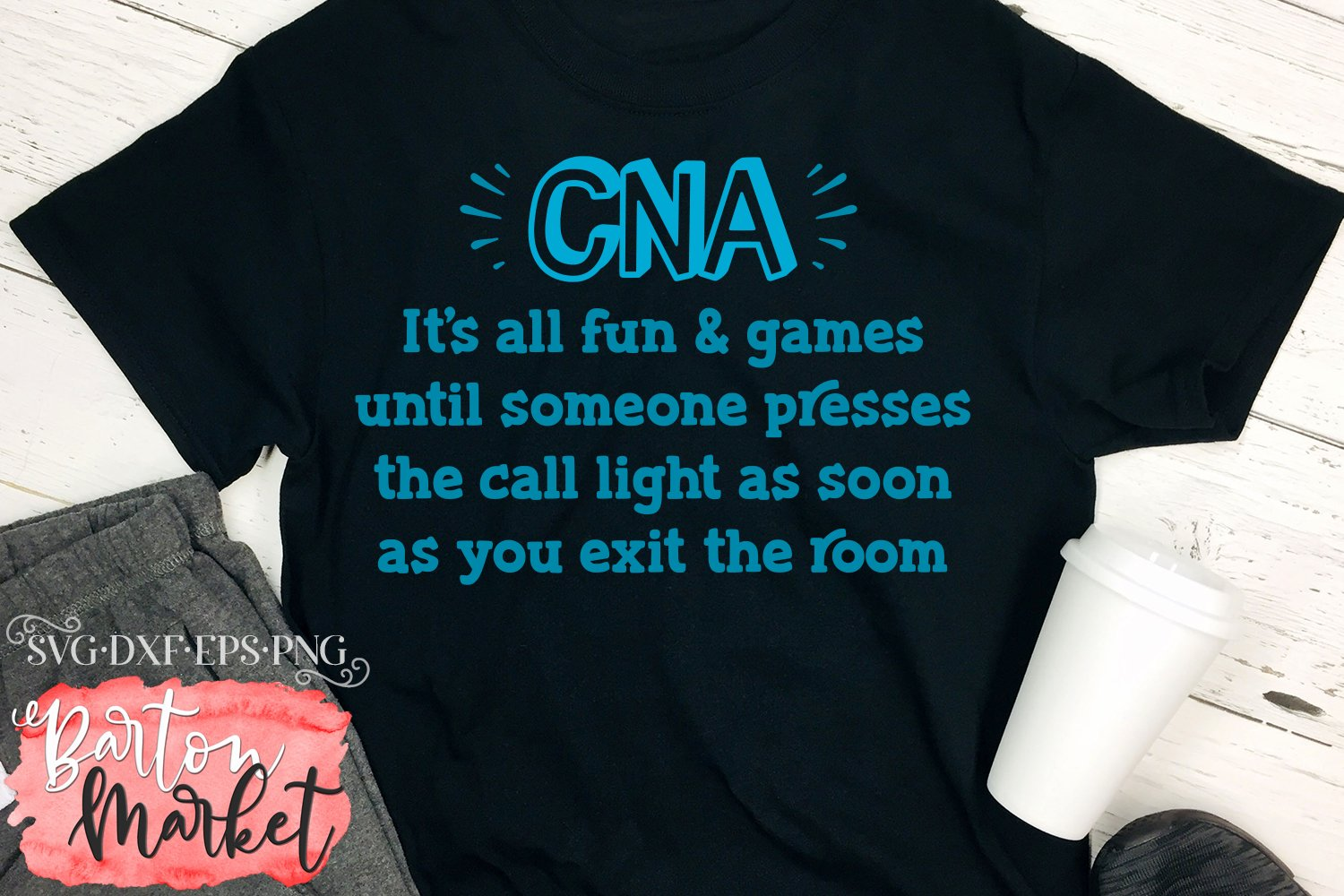 CNA Call Light SVG DXF EPS PNG example image 3