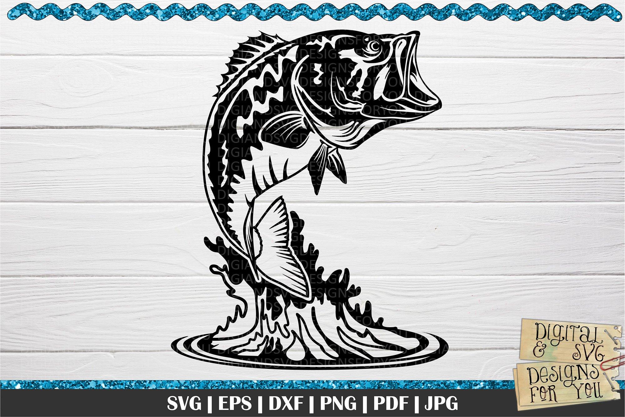 Download Bass Svg Bass Fishing Fishing Svg 771760 Cut Files Design Bundles
