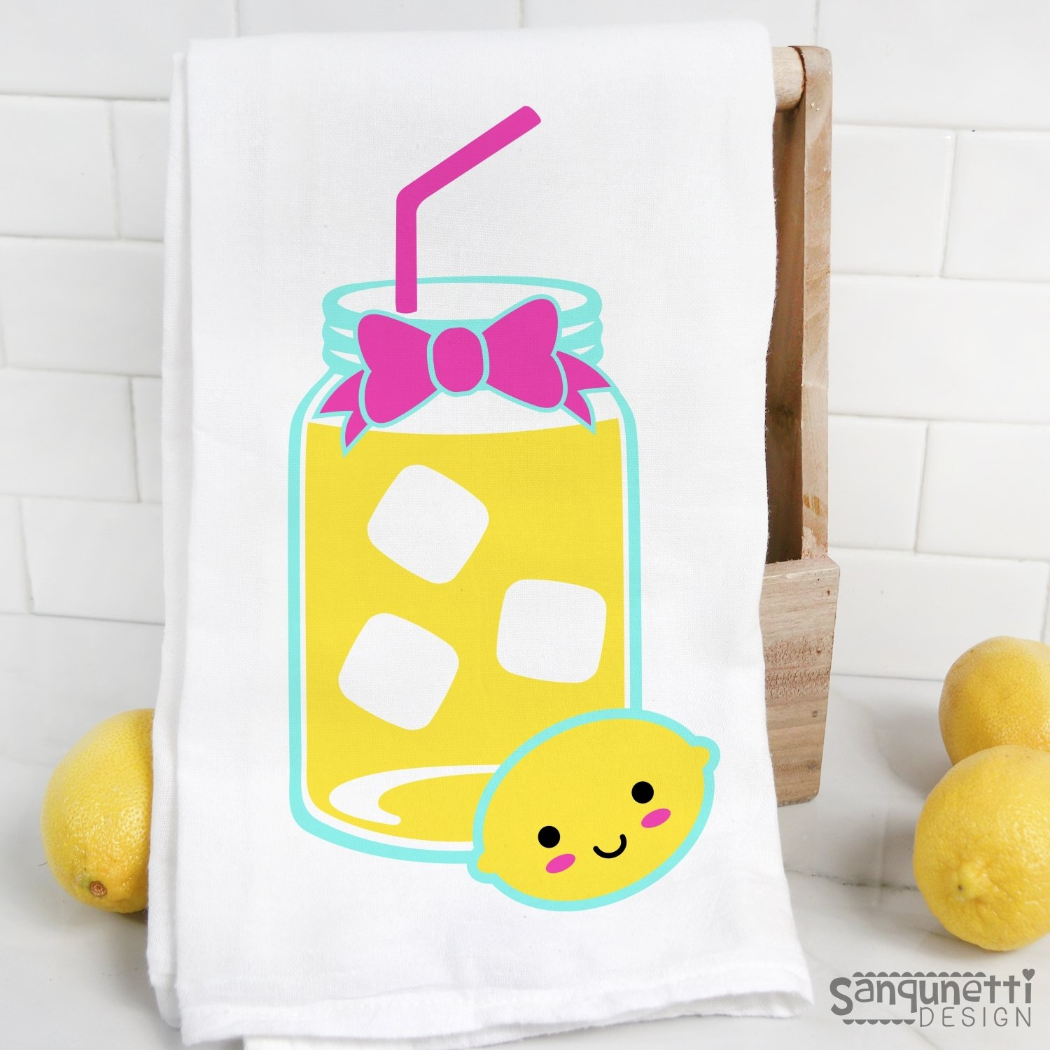 Lemonade SVG, summer drink cut file example image 2