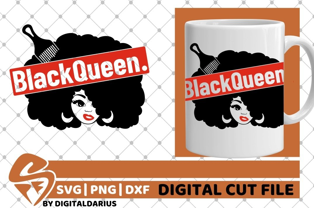 Black Queen svg, Natural Hair , Hairstyle svg, Hairdresser example image 1
