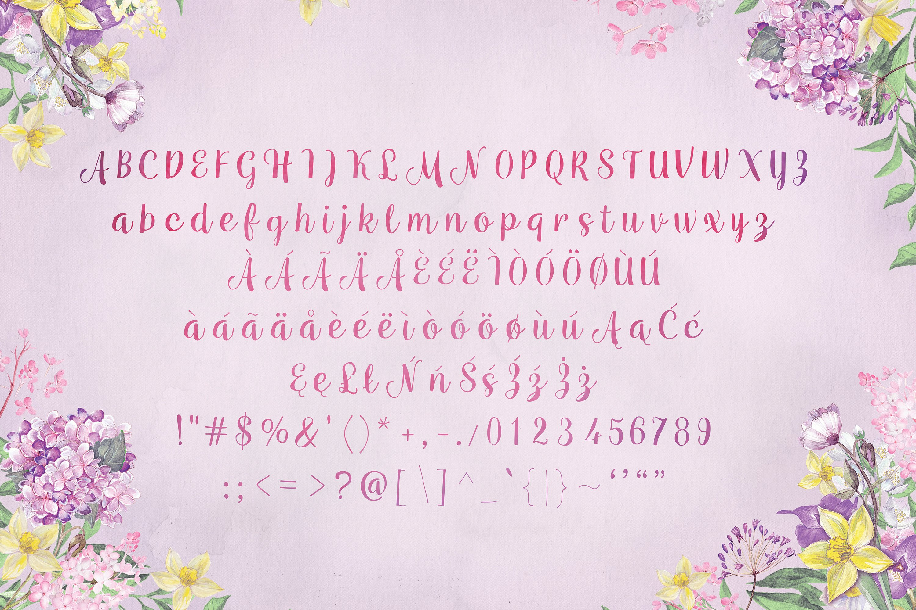 Mianowicie font example image 2