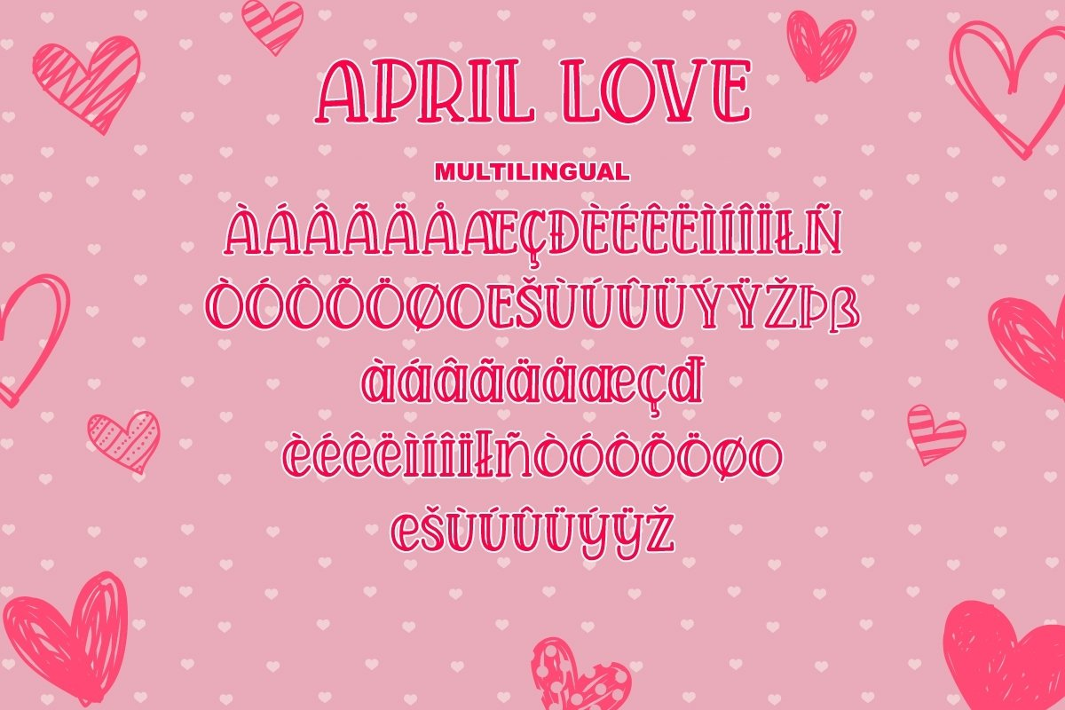 April Love - Handwritten Font example image 3