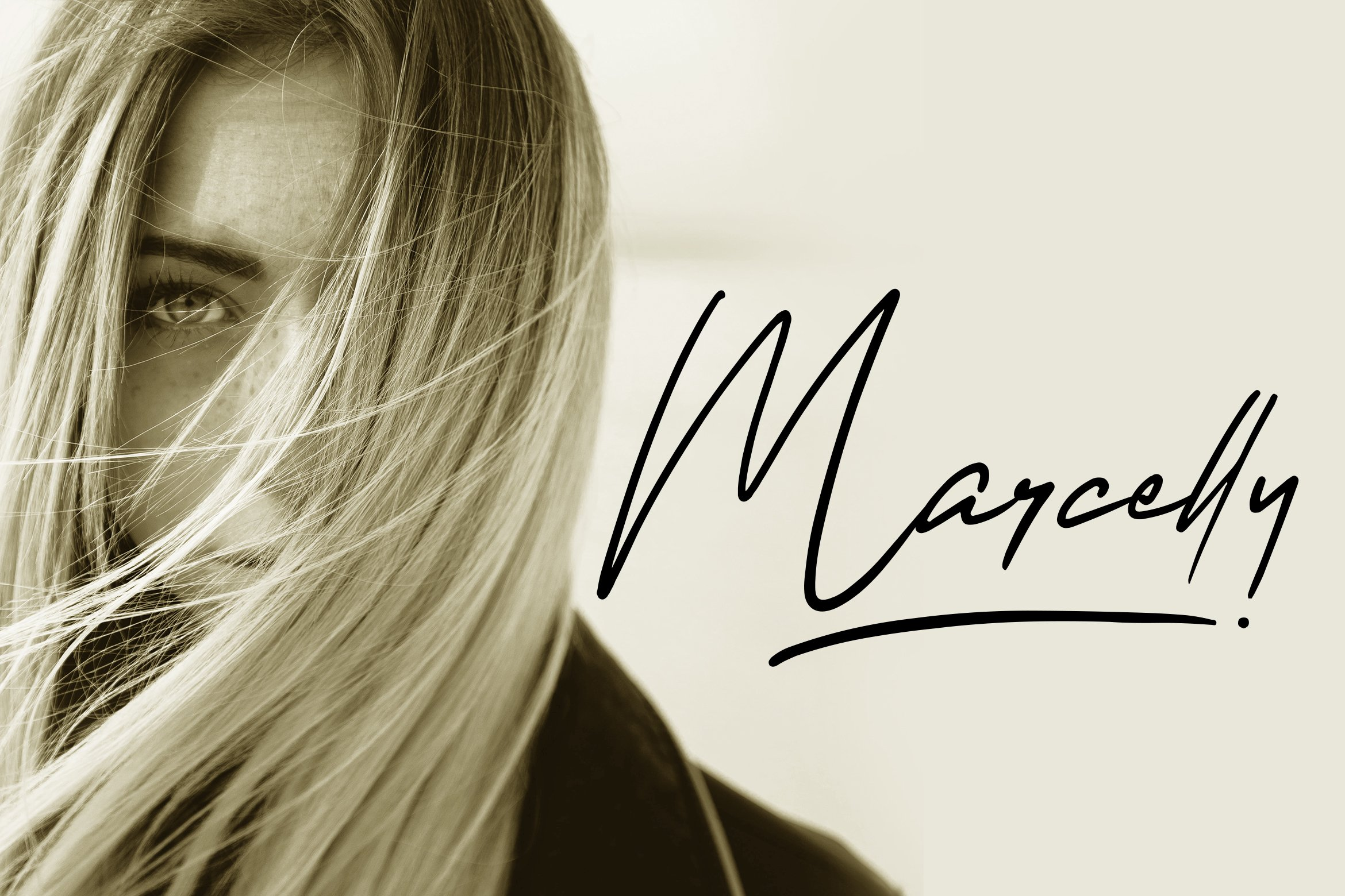 Marcelly - Beautiful Script Font example image 1