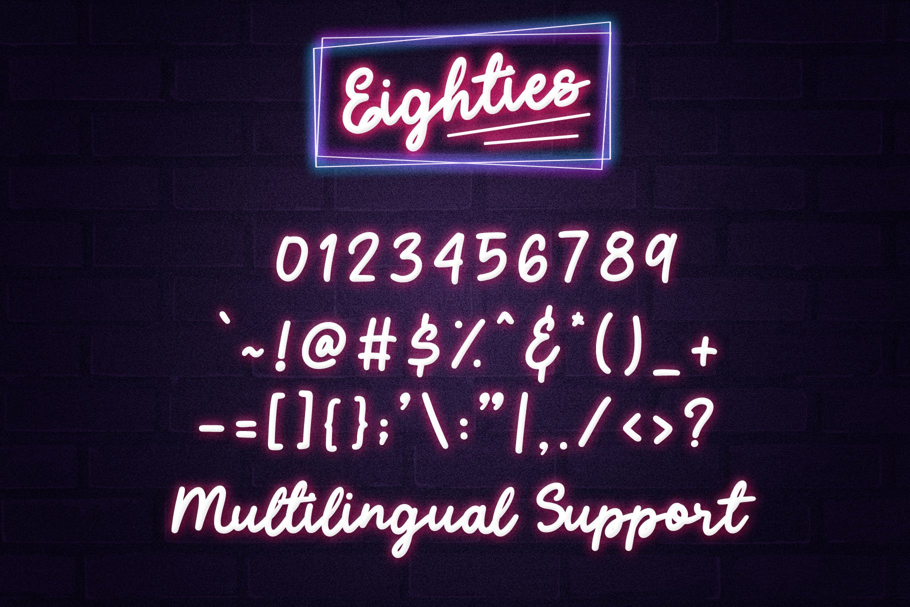Eighties - Retro Script Font example image 6