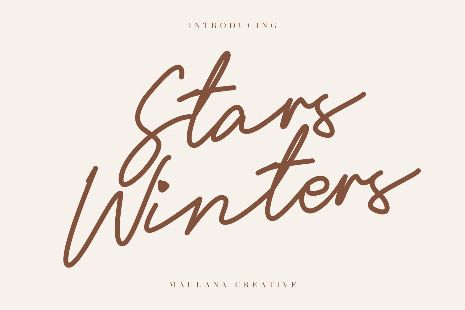 Stars Winters Typeface example image 1