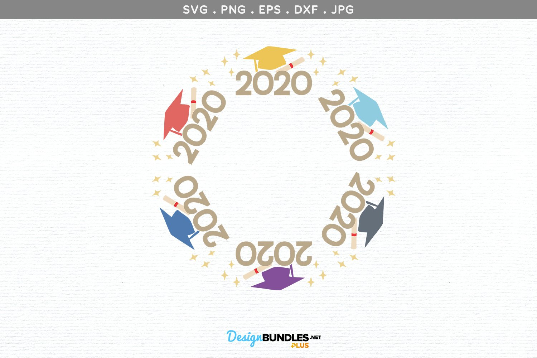 Graduation Monogram Frame - svg, printable example image 2
