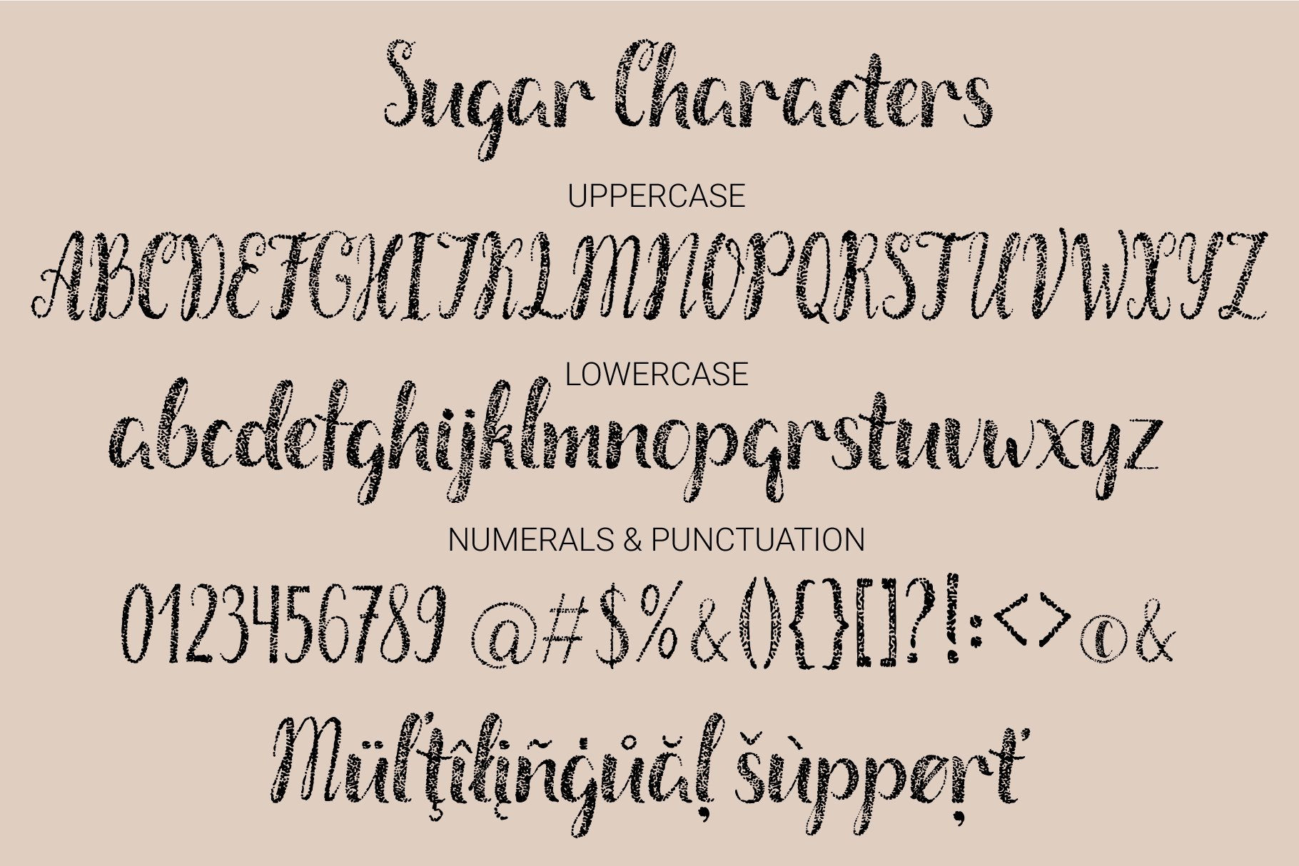 Salt & Sugar.Hand Drawn Font Duo example image 6