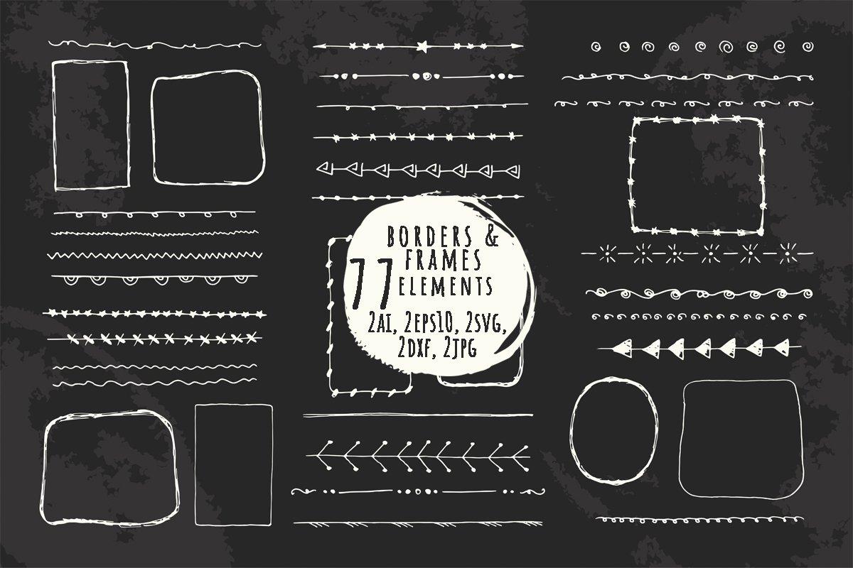 Download Hand Drawn Doodle Line Borders And Frames 922108 Elements Design Bundles