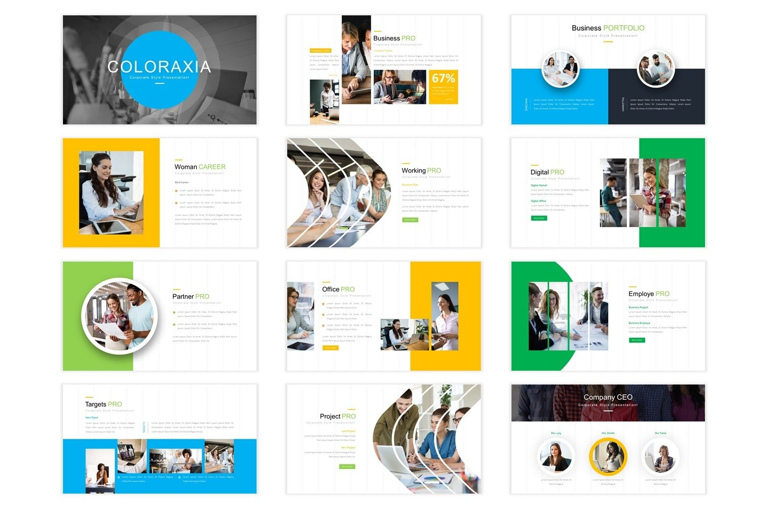 Coloraxia Template - Powerpoint example image 4