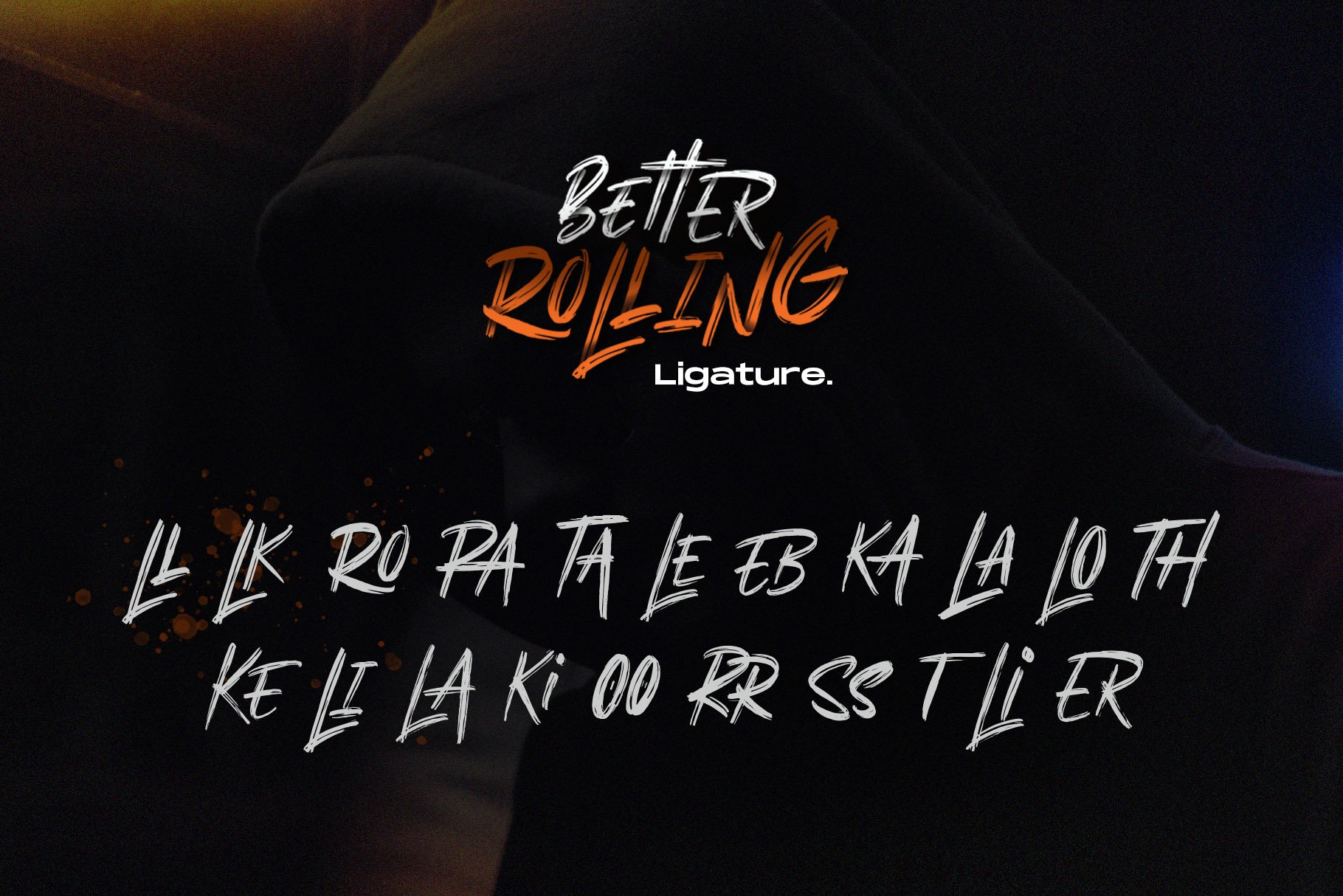Better Rolling - Brush Font example image 3