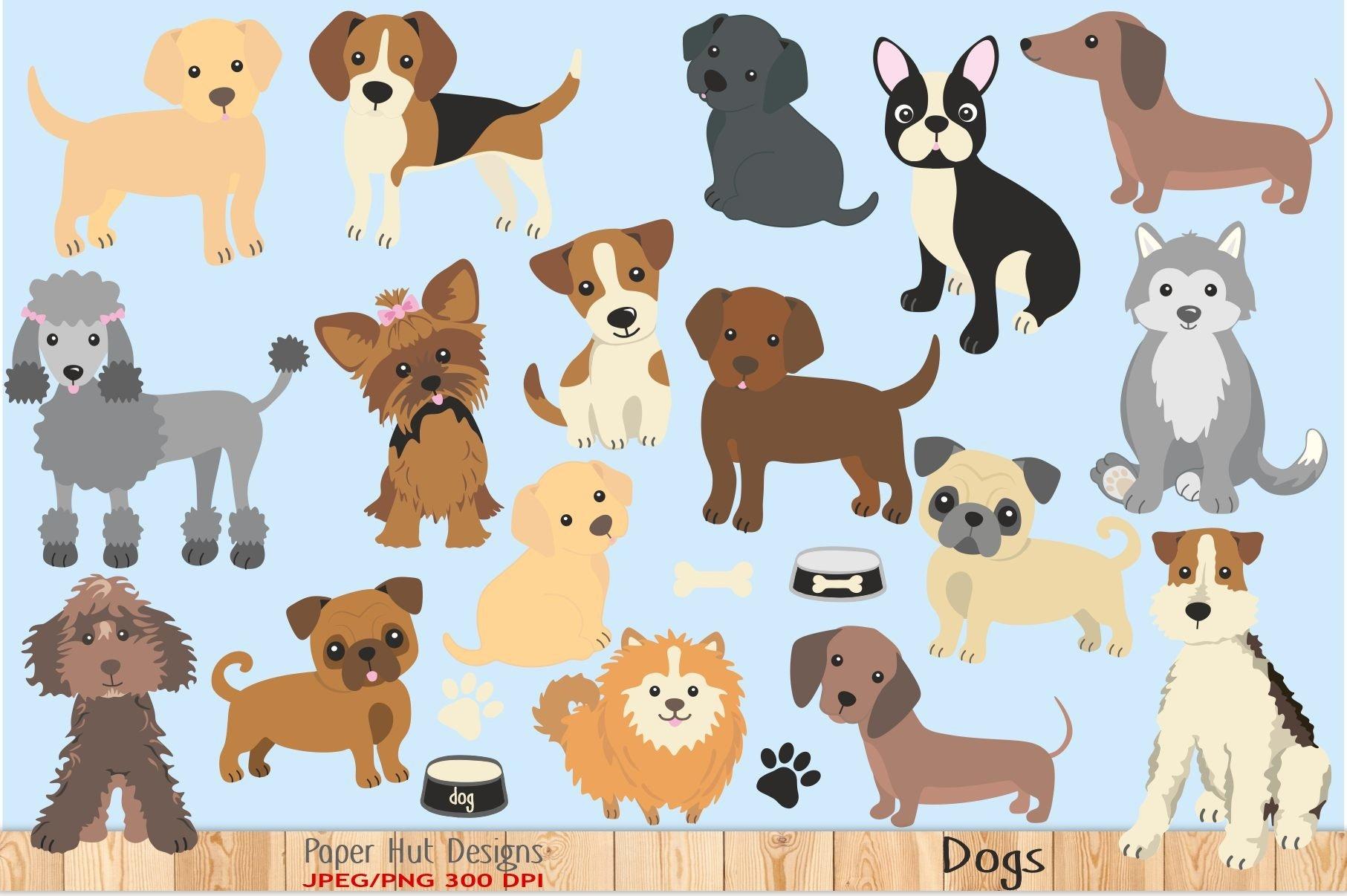 Dog Clipart 64205 Characters Design Bundles