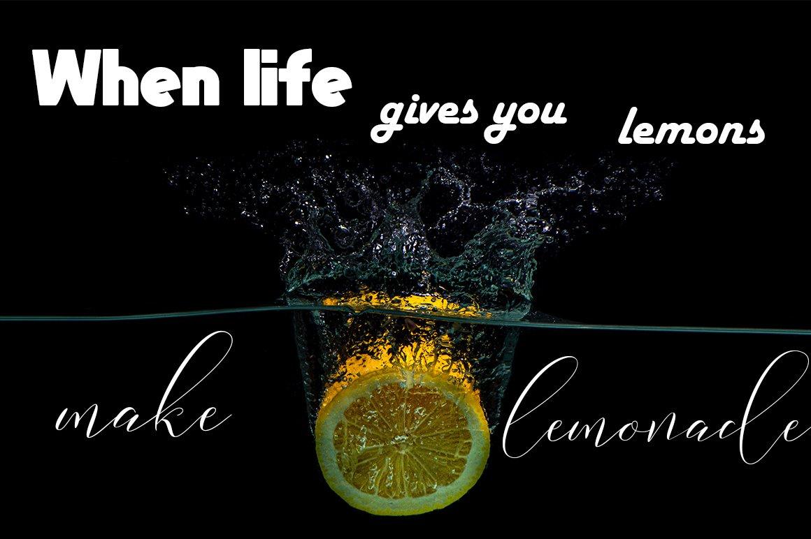 Lemonade Modern Calligraphy example image 2