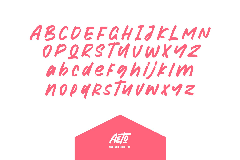 Aeto - Brush Handmade Font example image 11