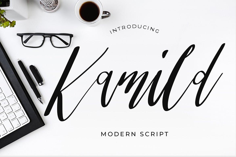 Kamild Calligraphy Font example image 1