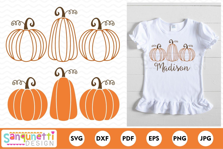 Pumpkin Trio Svg Fall Pumpkins Cut File 756549 Cut Files Design Bundles