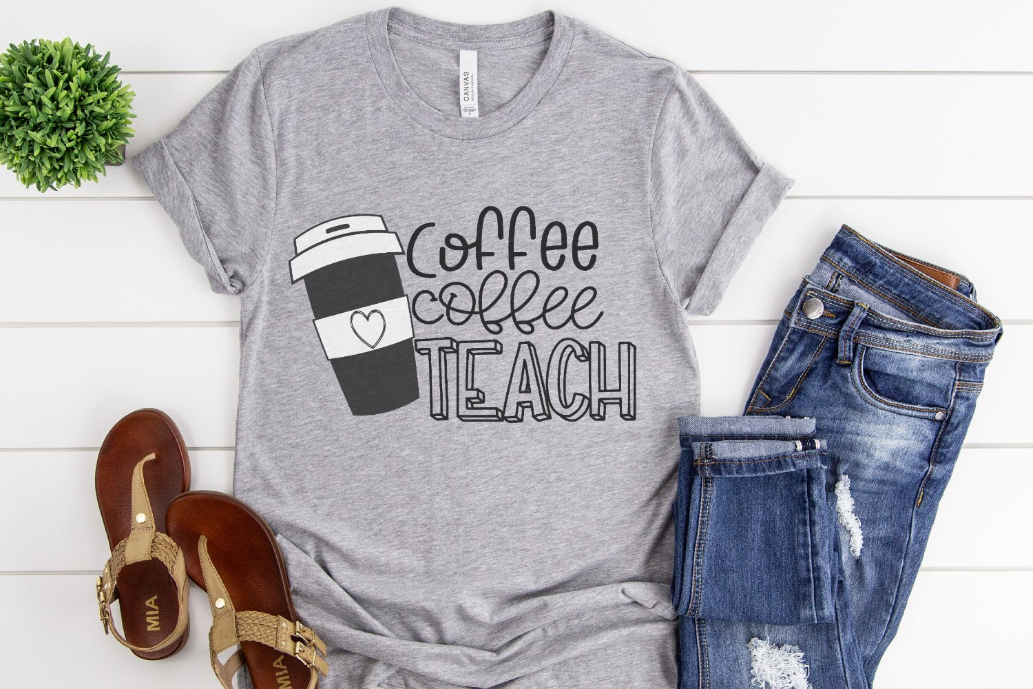 Teacher Back To School Coffee Coffee Teach Svg 299630 Cut Files Design Bundles