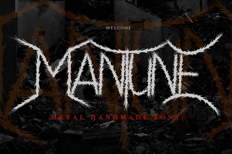 Mantune | Death Metal Font example image 1