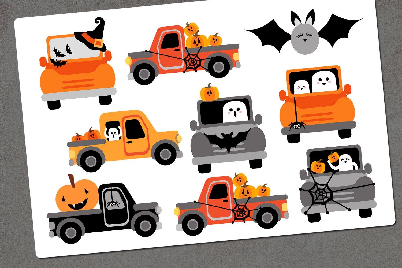 Halloween truck illustration clip art example image 3