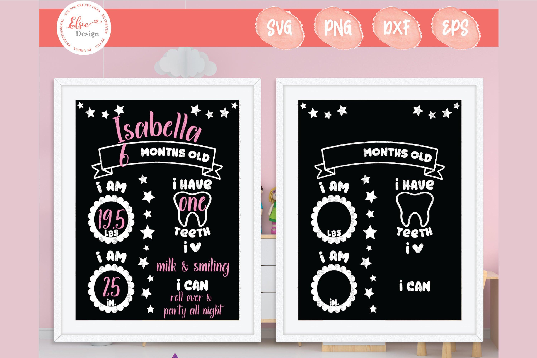 Baby Milestone Chalkboard Svg Cut Files 512812 Cut Files Design Bundles