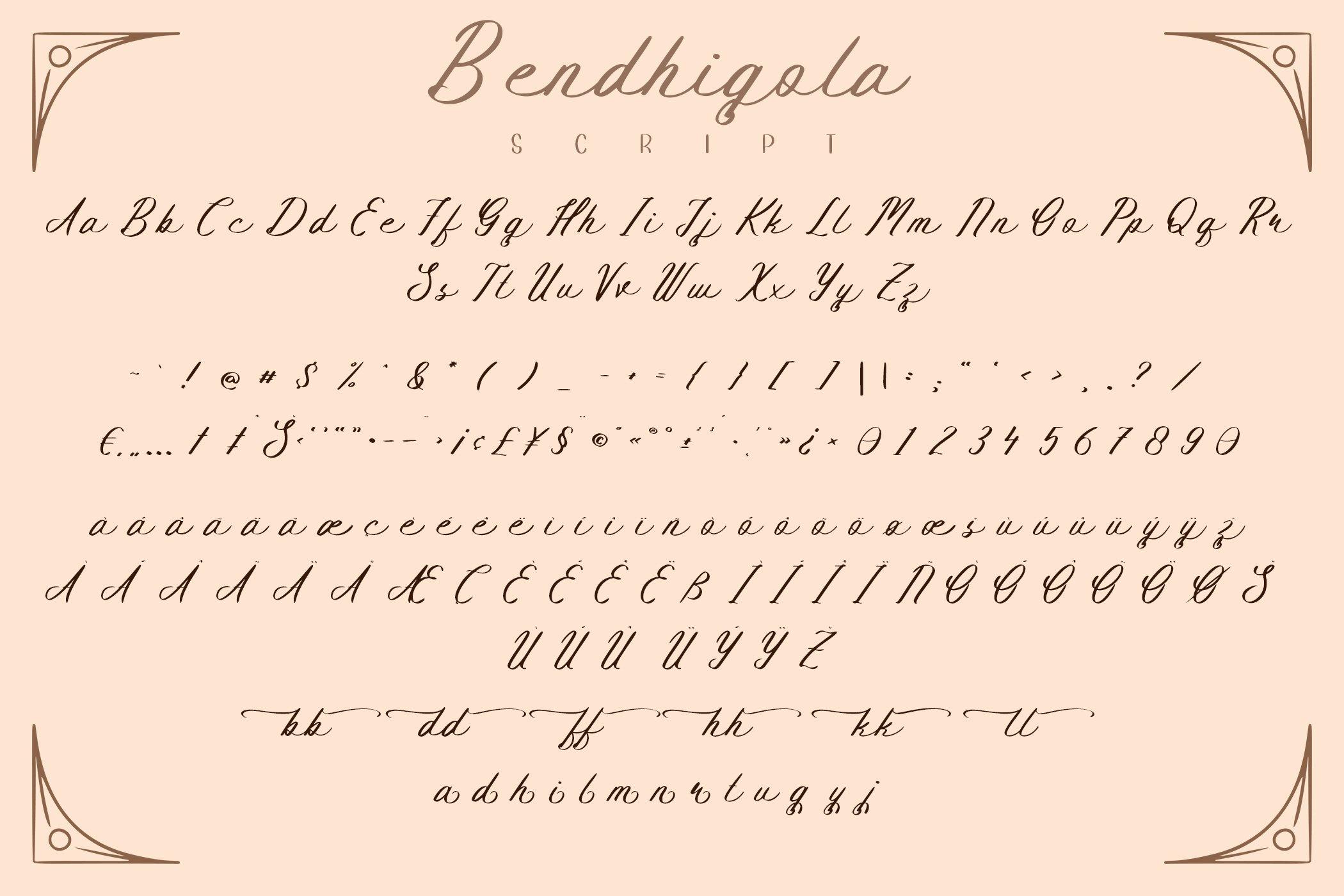 Bendhigola - Handwritten Font Duo example image 14