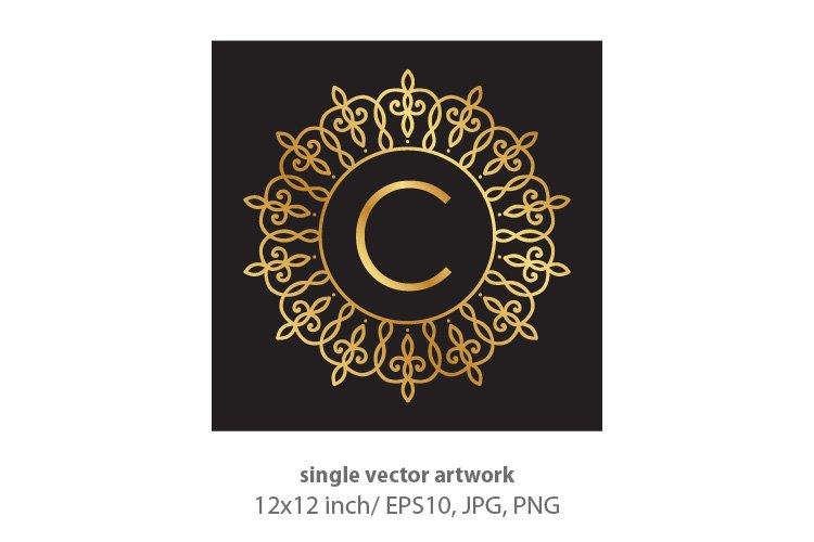Letter c, inside luxury frame example image 1
